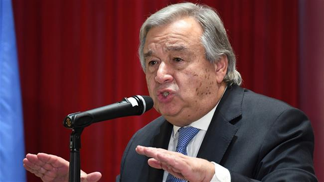 UN chief warns that coronavirus poses a risk to human rights
