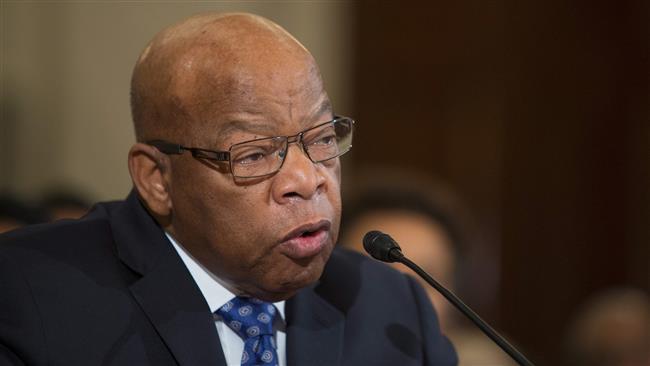 US: Congressman John Lewis says racism 'must be in Trump's DNA'