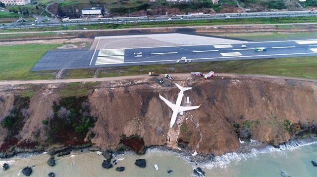 Plane with 162 on board skids off runway in Turkey