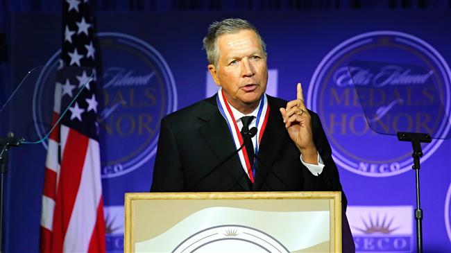 Ohio governor John Kasich says US witnessing 'the end of a two-party system'