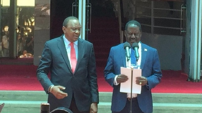 "Kenya: President Uhuru Kenyatta calls opposition leader Raila Odinga ""his brother"""