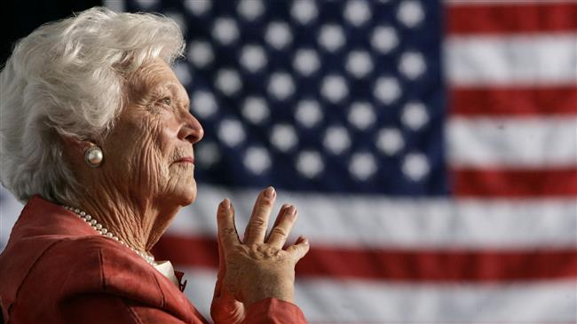 Former US first lady Barbara Bush dies at 92