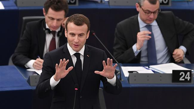 French president warns authoritarianism on rise in Europe
