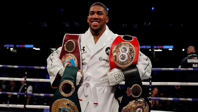Anthony Joshua wins WBO belt as undefeated feat continues