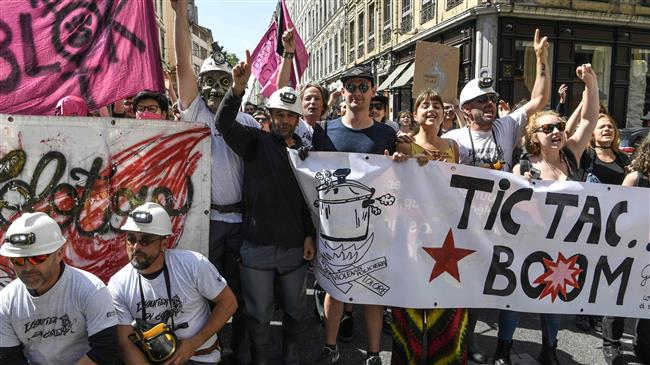 French workers stage fresh nationwide strike over job cuts