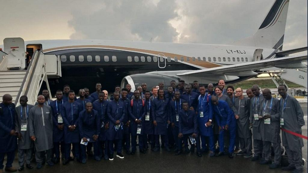FIFA World Cup: Traditionally dressed Senegal arrives in Russia