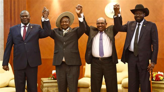 South Sudan foes meet face-to-face for first time in 2 years to end war