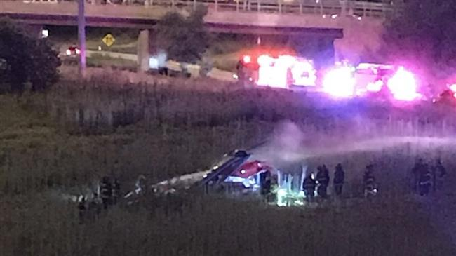 US: Medical helicopter crashes on Chicago highway, 4 injured