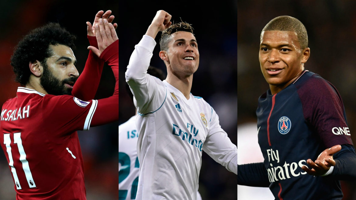 Mbappe, Salah shortlisted for FIFA player of the year award