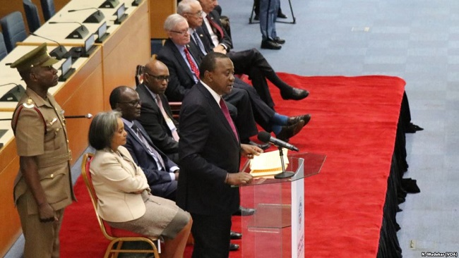 Kenya's president Uhuru Kenyatta rejects gay agenda in global population conference