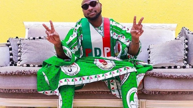 Nigeria: Davido campaigns for opposition PDP