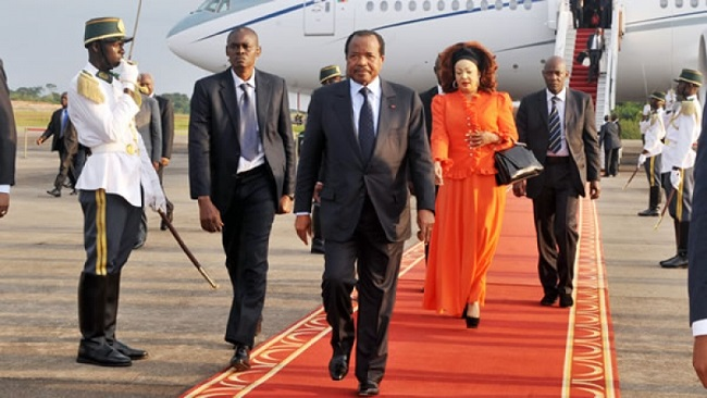 Disgraced president Biya leaves Geneva after spate of protests