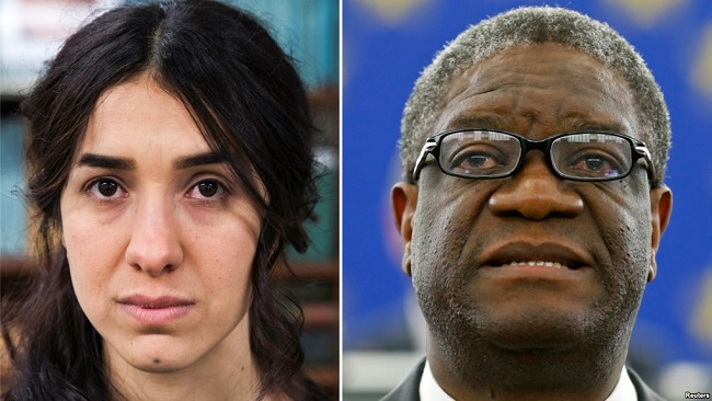 Congolese Doctor, Yazidi Human Right Activist Share Nobel Peace Prize