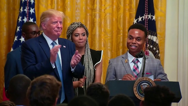 Nigerian Immigrant who travelled to the US using a Cameroonian passport tells President Trump to build wall to cut out illegal immigration