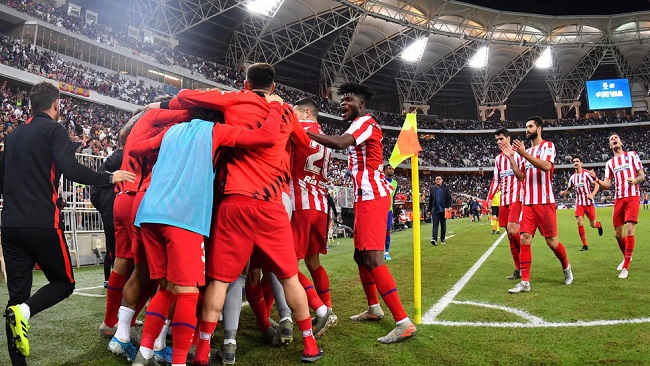 Football: Atletico stun Barca to set up all-Madrid Super Cup final