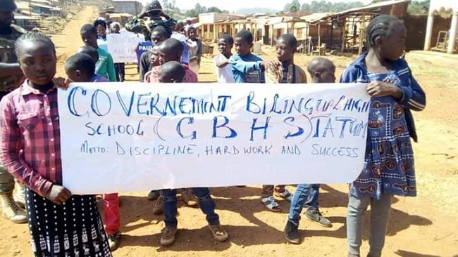 Cameroon gov't army soldiers have forced Ambazonian kids to stage parades commemorating youth day