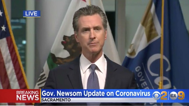 US: California governor orders entire state to stay home, says 56% of them could get coronavirus