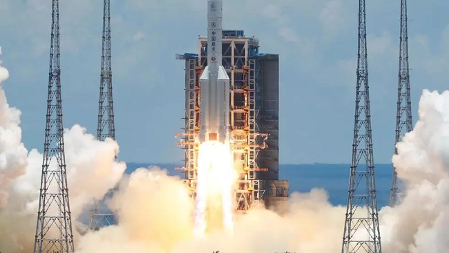 China launches first-ever mission to Mars in space race with US