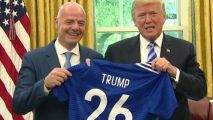 Football: FIFA head visits White House amid corruption investigation in Switzerland