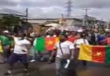 French Cameroun protesters call for end to bloodshed in Southern Cameroons
