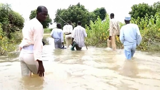 Northern French Cameroon Under Water