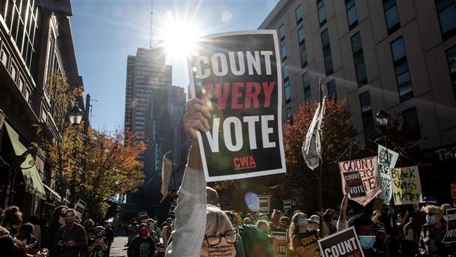 US election unrest: Trump and Biden supporters stage protests