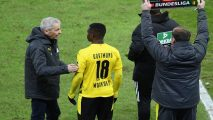 Dortmund's Cameroon-born Moukoko becomes youngest ever Bundesliga player