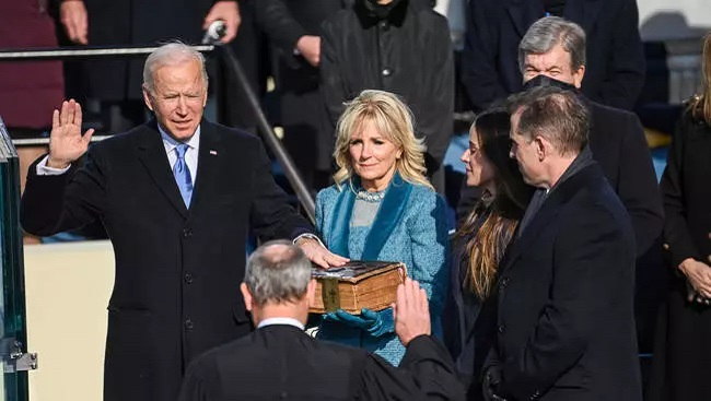 Joe Biden sworn in as US President with bold speech citing fight against white supremacism