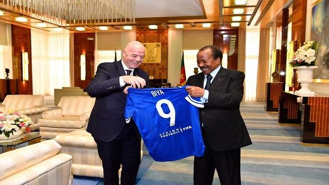 Biya meets FIFA President Infantino