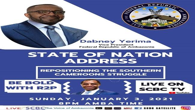 Federal Republic of Ambazonia: Vice President Yerima to address nation