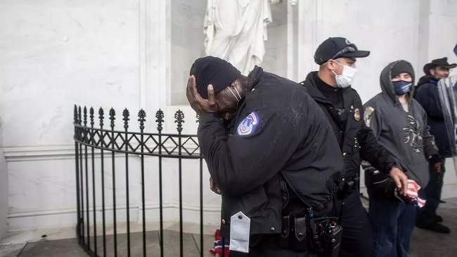 'White privilege': Police accused of hypocrisy after Trump mob storms US Capitol