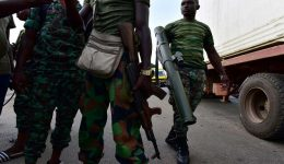 Three Ivory Coast military killed after their vehicle ran over explosive device