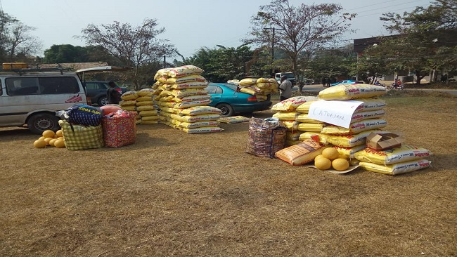 Ambazonia Refugee Crisis: Aid presented by Minister Mengot were foodstuffs seized  from Nigerian and Anglophone businessmen