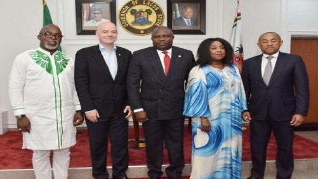 FIFA President Gianni Infantino is in Lagos