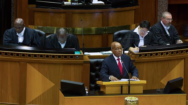 Political fate of South African president in limbo