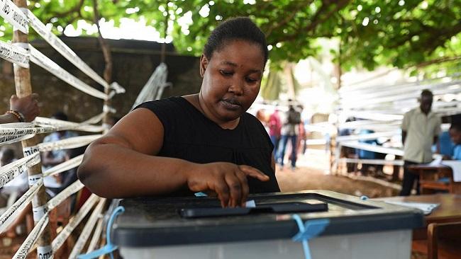 Sierra Leone begins voting in presidential run-off