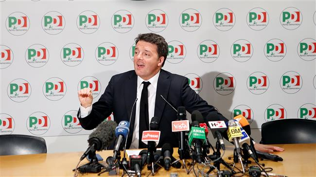 Italian centre-left leader Renzi resigns after election defeat