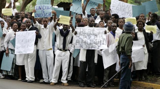 Zimbabwe dismisses thousands of striking nurses