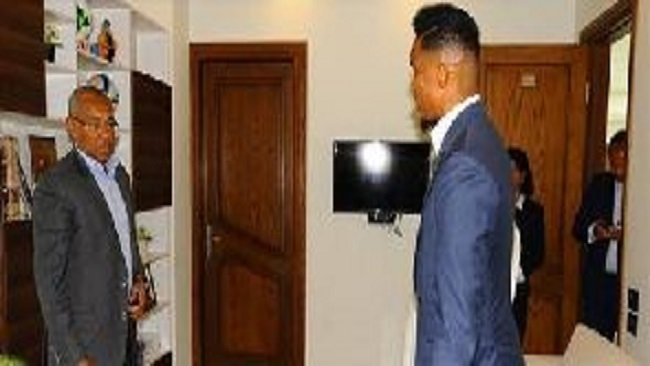 Cameroon legend Samuel Eto'o paid a visit to the CAF Headquarters in Cairo, Egypt