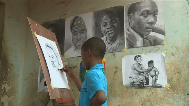11-year-old artist becomes a sensation in Nigeria