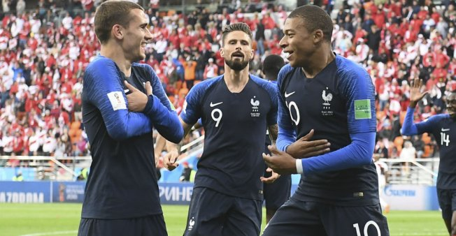 Teenager Mbappe sends France through to last 16 as Peru knocked out