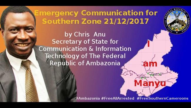 Southern Cameroons Crisis: IG warns Ambazonians on Ground Zero