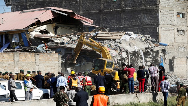 At least three dead after Kenya building collapse