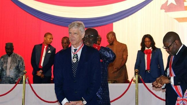 President Weah honours Arsene Wenger with Liberia's highest national award