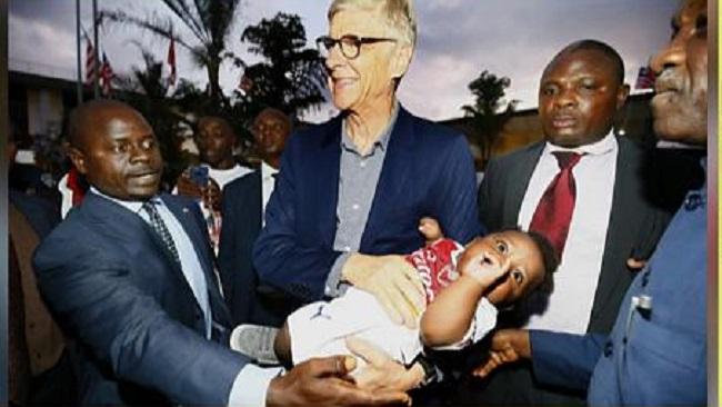 Arsene Wenger in Liberia, says he's not aware of any honor