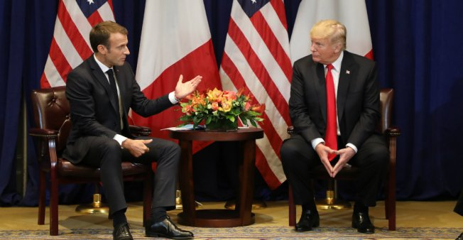 Trump and Macron seek to smooth over differences ahead of UN General Assembly