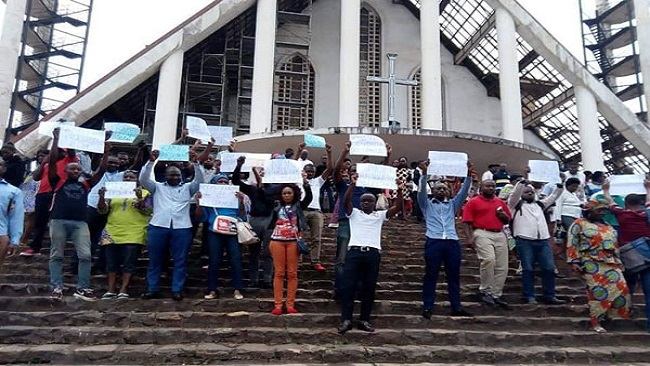 French Cameroon opposition continues protest against Biya win