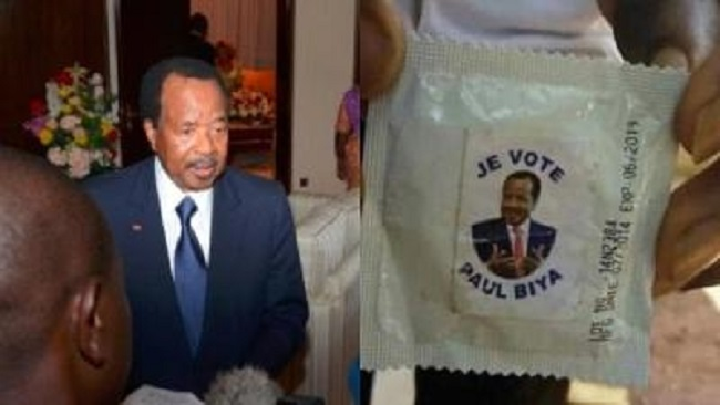Will Biya's branded condoms deliver victory?