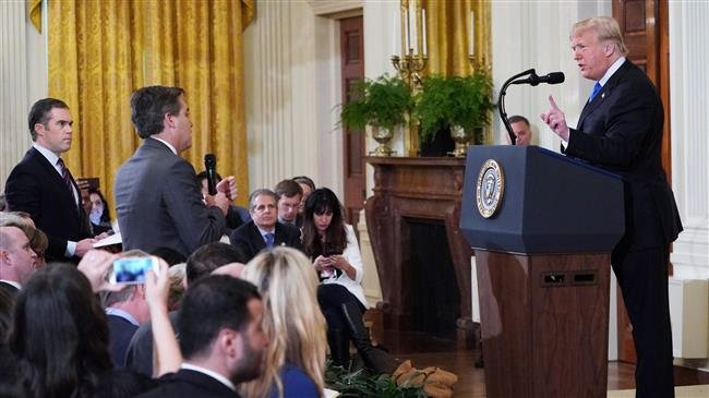 White House suspends press pass for CNN reporter after fiery exchange with Trump