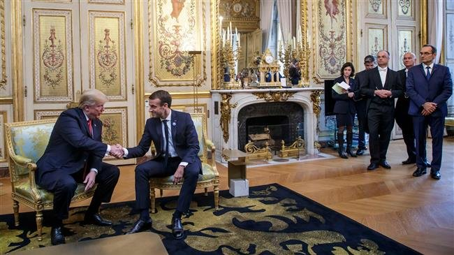 Trump, Macron agree on defense after row over call for European army